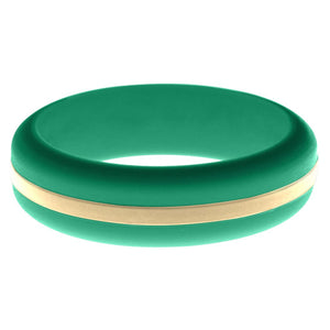 Womens Teal Silicone Ring with Sand Changeable Color Band