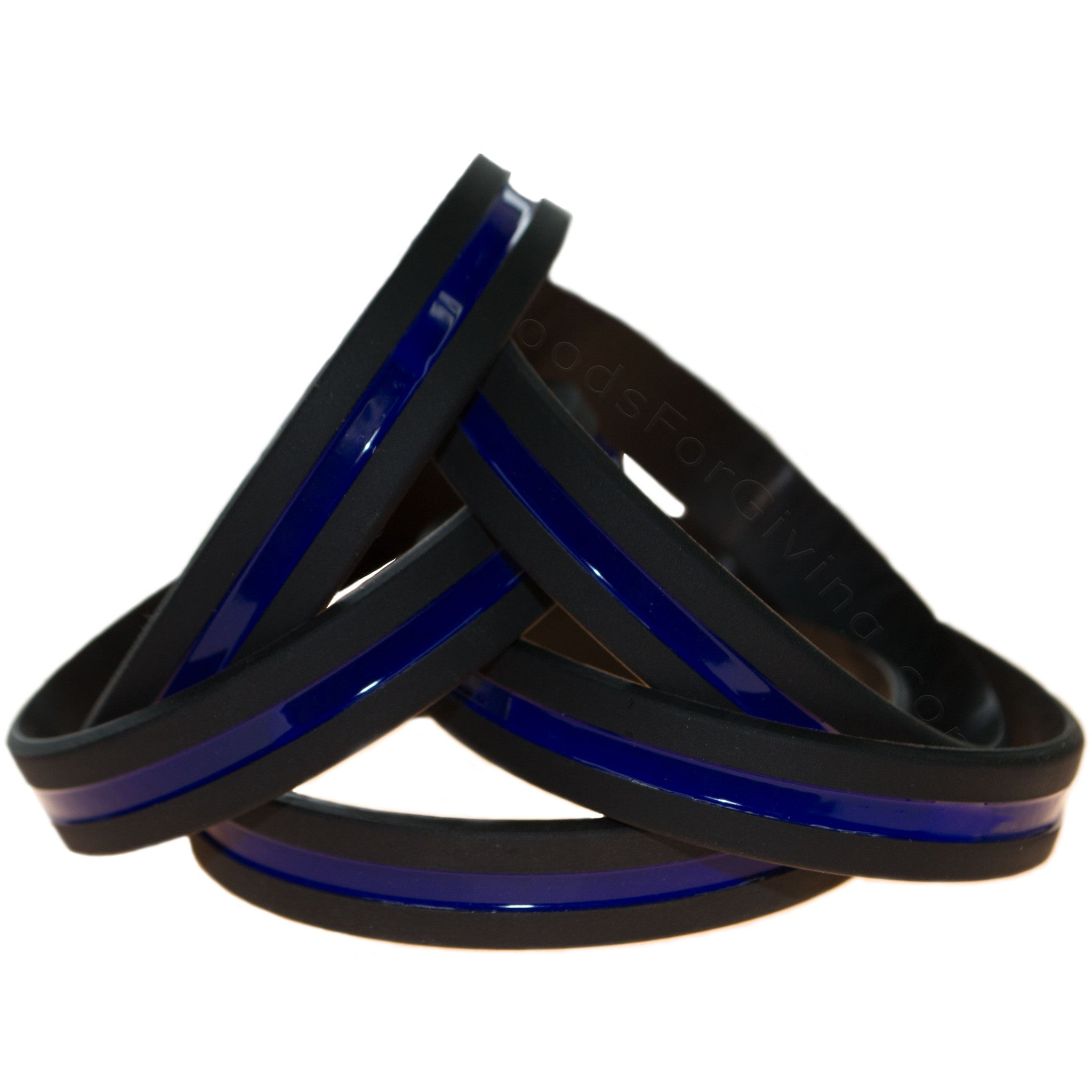 rothco thin products silicone blue line bracelet navy wholesale army