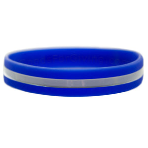 EMS Blue Wristband With Thin White Line In The Middle
