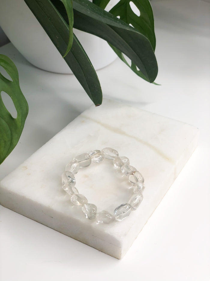 Clear / White Quartz Bracelet