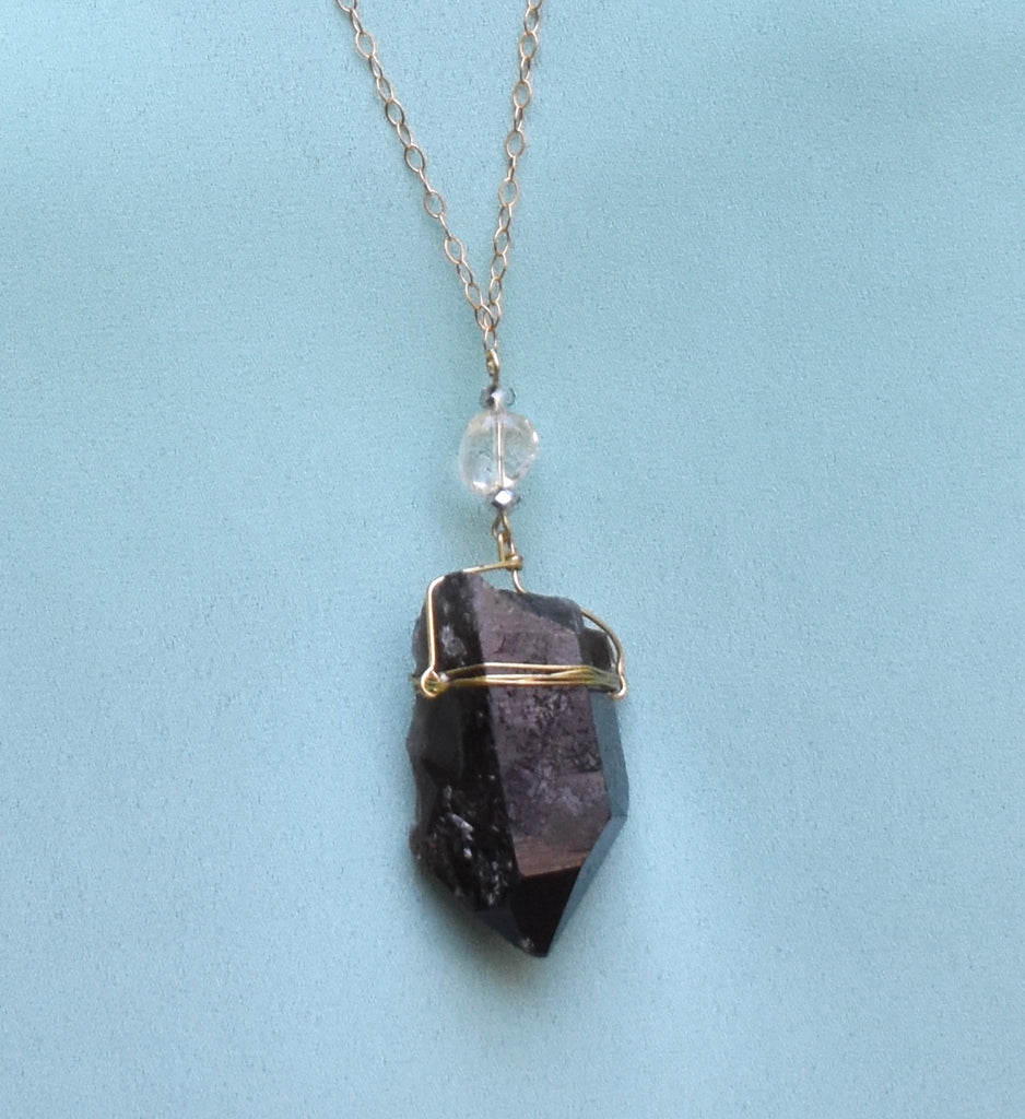Smokey Quartz + Citrine Necklace