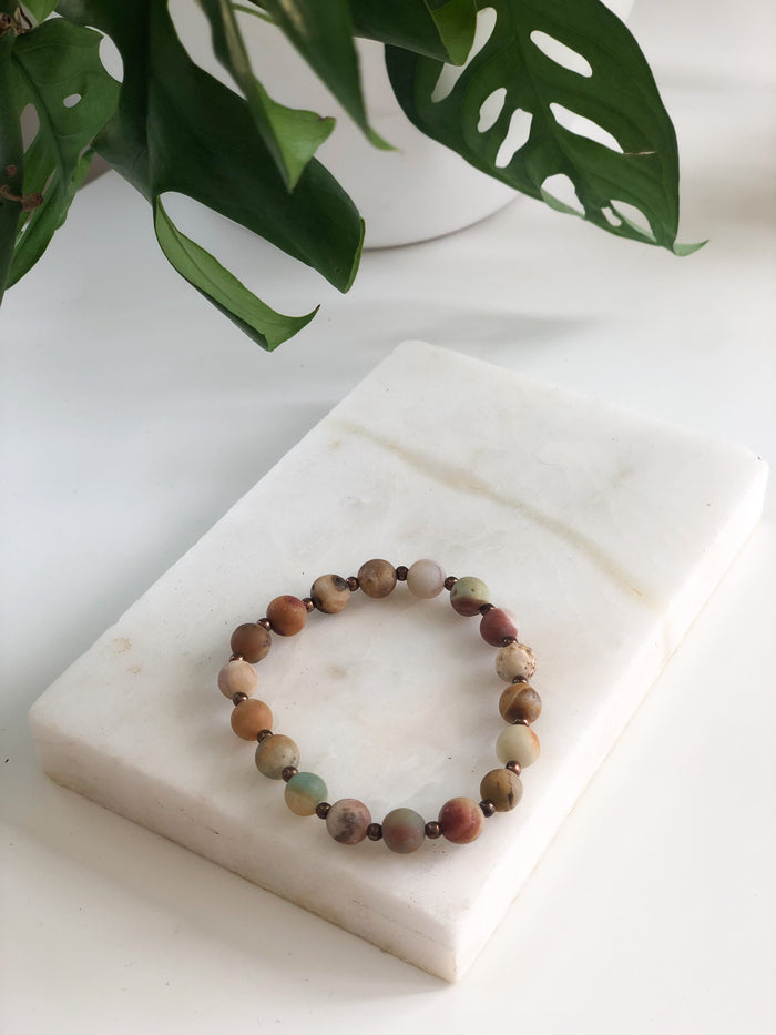 Amazonite + Copper Bracelet