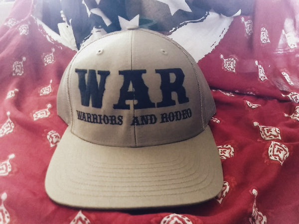 WAR Logo Hat military green