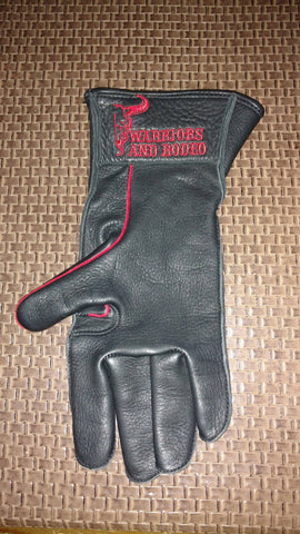 Warriors and Rodeo Velcro Strap Right Hand Riding Glove