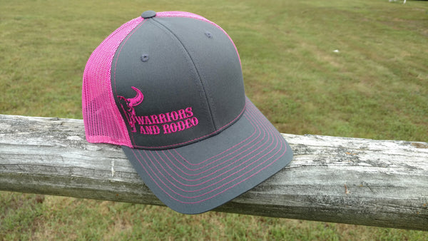 WAR Bull Hat Charcoal/Neon Pink
