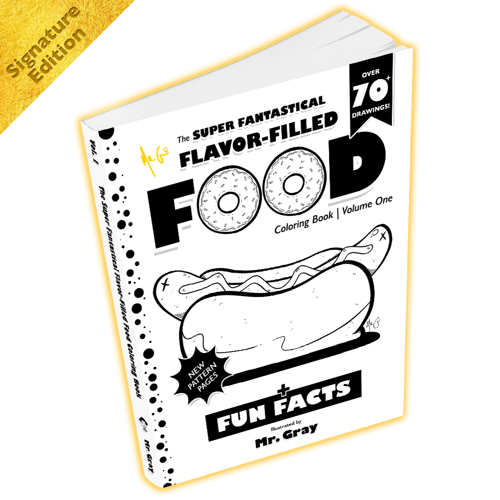 The Super Fantastical Flavor-Filled Food Coloring Book - Signed - by ...