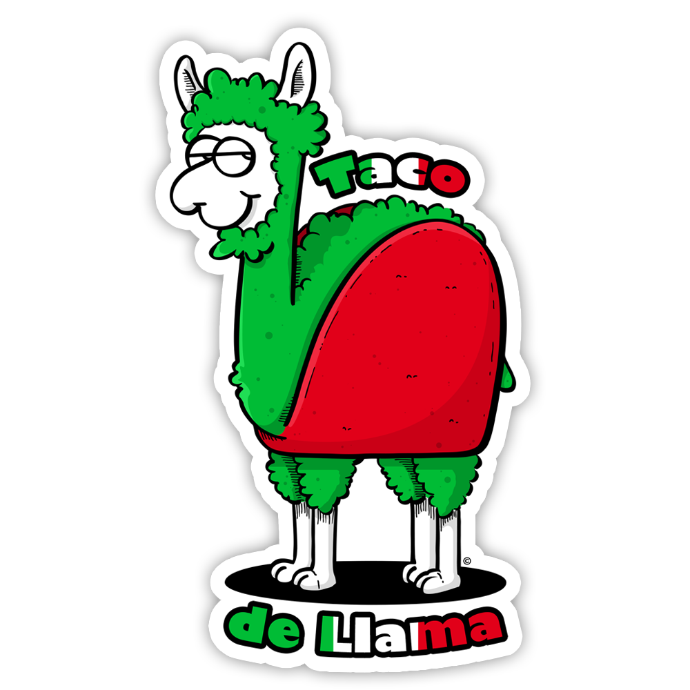 copyright-©-happee-unicorn-llc-taco-de-llama-sticker-1