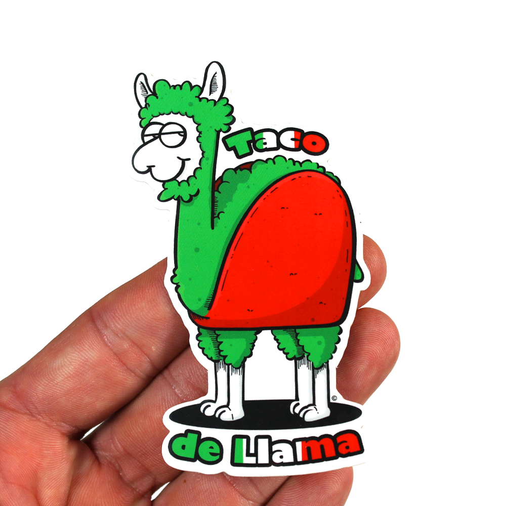 copyright-©-happee-unicorn-llc-taco-de-llama-sticker-2