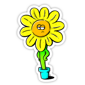 copyright-©-happee-unicorn-llc-unamused-flower-sticker-1