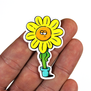 copyright-©-happee-unicorn-llc-unamused-flower-sticker-2