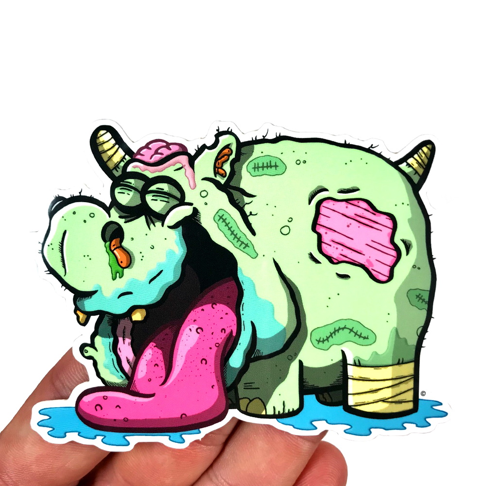 copyright-©-happee-unicorn-llc-zombie-hippo-sticker-2