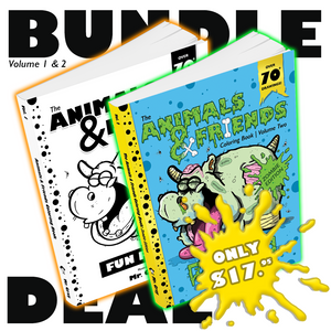 BUNDLE: The Animals & Friends Coloring Book (Volume 1 & 2)