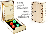 SPECIAL PRICING Pocket Dice Tower, unvarnished 012