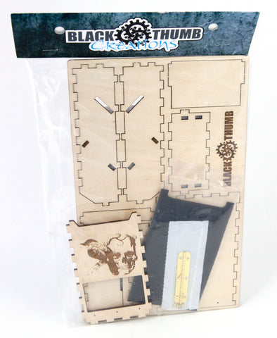 Pocket Dice Tower, DIY Kit  2 engraved graphics - Blackthumb Creations
