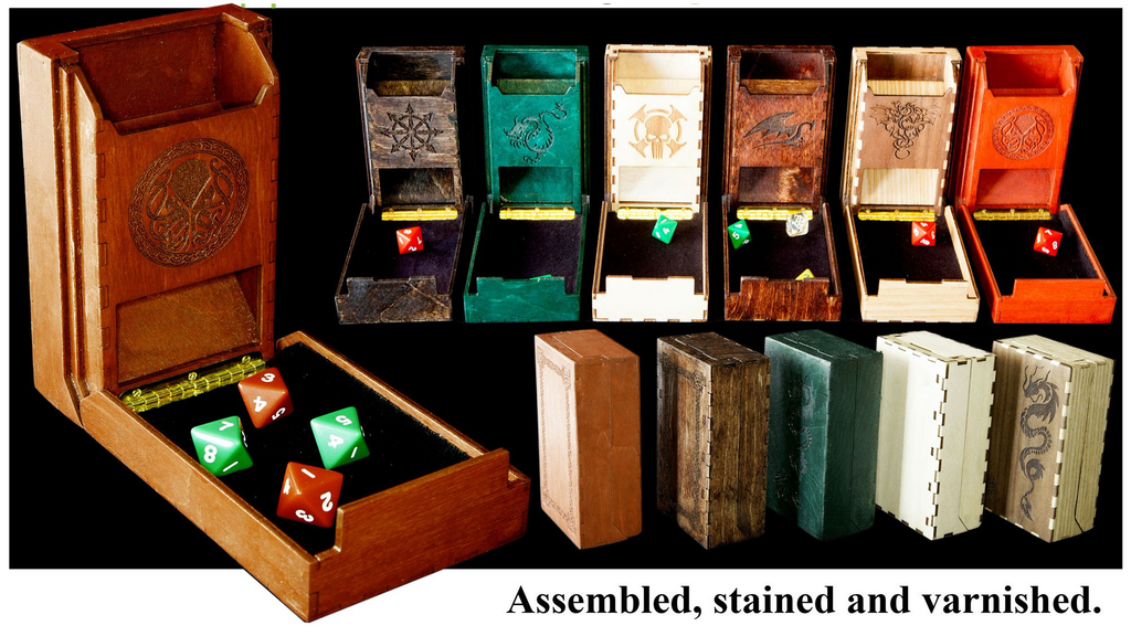 Pocket Dice Towers, Custom Assembled and Stained * - Blackthumb Creations