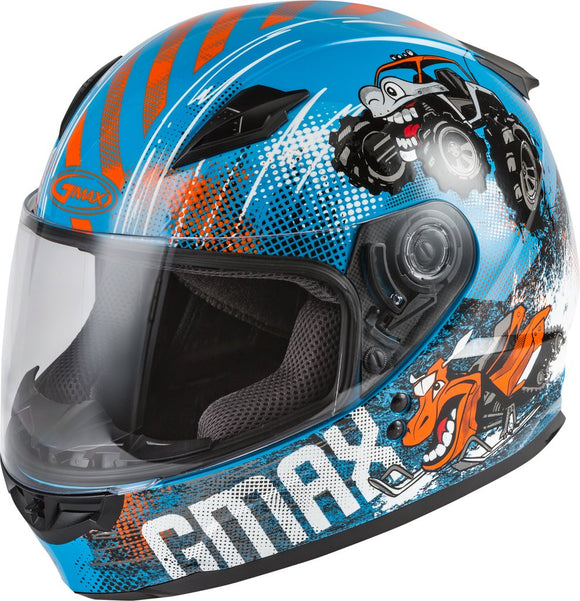 Casque GMAX GM49Y BEAST BLEU/ORANGE/GRIS