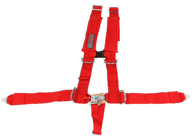 "CEINTURE SLASHER À 5 POINTS, 3 ""X 3"", ROUGE"