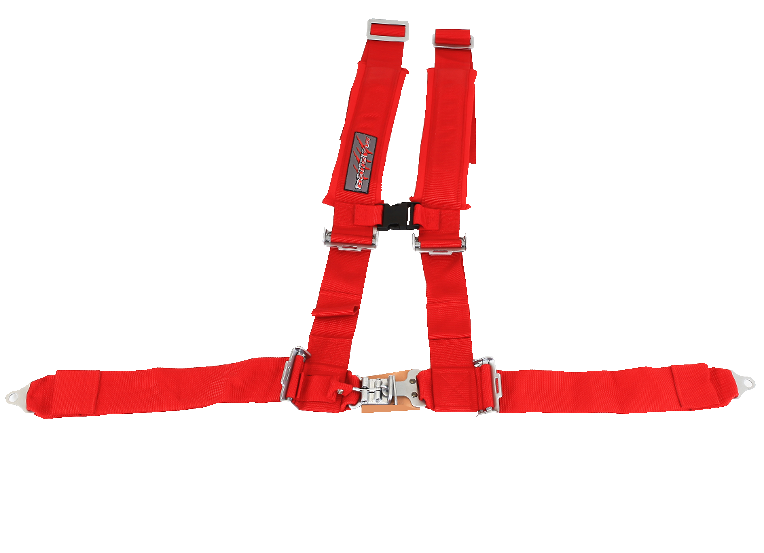 "CEINTURE SLASHER 4 POINTS, 3 ""X 3"", ROUGE"