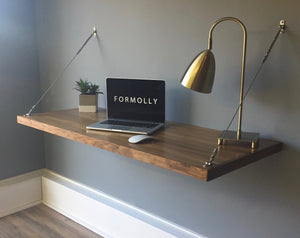 walnut floating desk by formolly