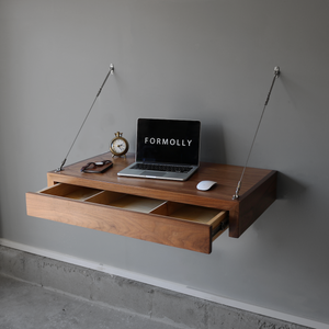 floating computer desk with storage by FORMOLLY