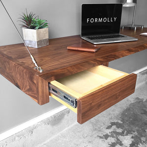 floating desk with drawers