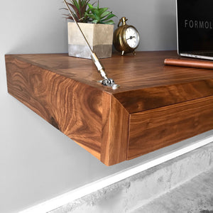 walnut floating desk