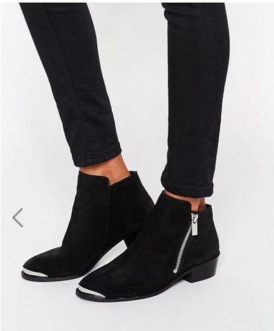 Asos black ankle boots SassieDoll Blog