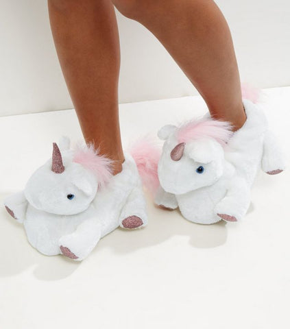 New Look unicorn slippers gift idea SassieDoll Blog
