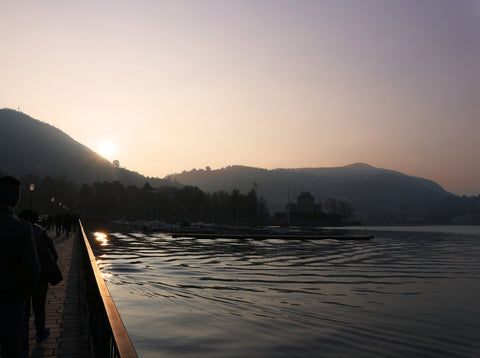 Sunset Lake Como Italy SassieDoll Travel Blog