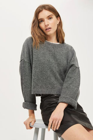 Topshop wide sleeve jumper