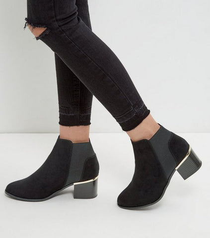 New look chelsea boot black ankle boot sassiedoll blog