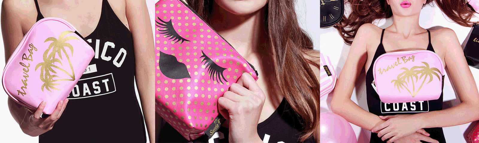 browse our collection of makeup bags