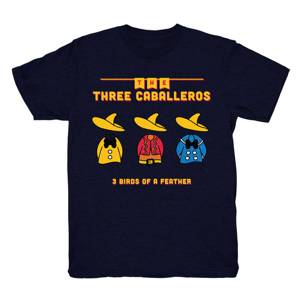 Three Caballeros Tee (Heather Navy)