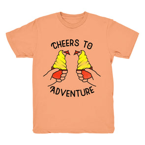 Cheers to Adventure Tee - (Peach)