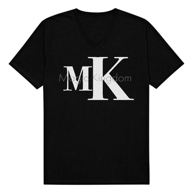 MK V-Neck Tee (Black Heather)