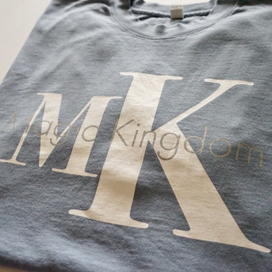 MK Crewneck Tee (Dusty Blue)