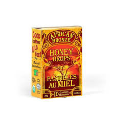 Honey Drop 10 Hard Candies African Bronze Honey Organic 30 g