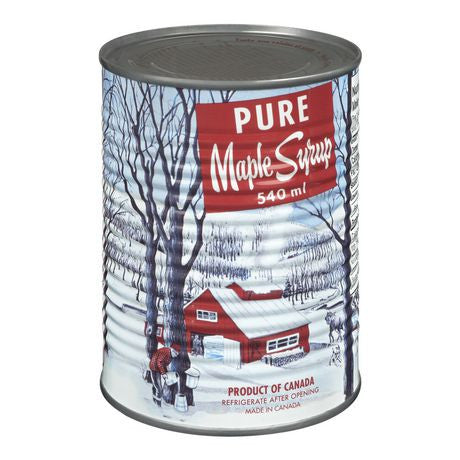 Maple Syrup Quebec #2 Grade C Amber Tins Organic 8x540ml