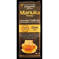 Dark 55% Chocolate Manuka Honey Truffle Bar Organic (15 in a case)