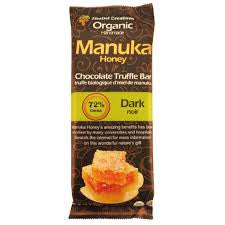 Dark 72% Chocolate Manuka Honey Truffle Bar Organic (15 in a case)