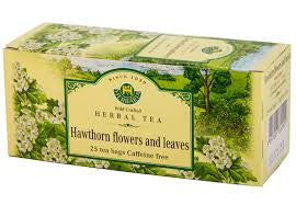 Hawthorn Flowers and Leaves Tea Wild-Crafted Herbaria 25 tb,  50 g