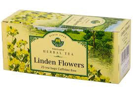 Linden Flowers Tea Wild-Crafted Herbaria 25 tb,  37.5 g