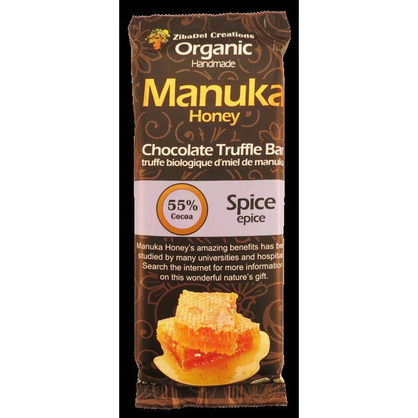 Spice 55% Dark Chocolate Manuka Honey Truffle Bar Organic