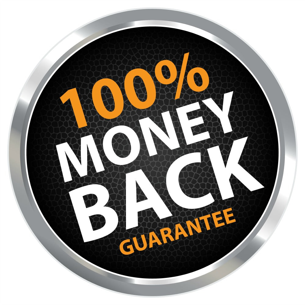 100% Money Back Guarantee on Color My Gray Red Shampoo and all of Rise-N-Shine's Vitamins, Supplements and Hair Care products!