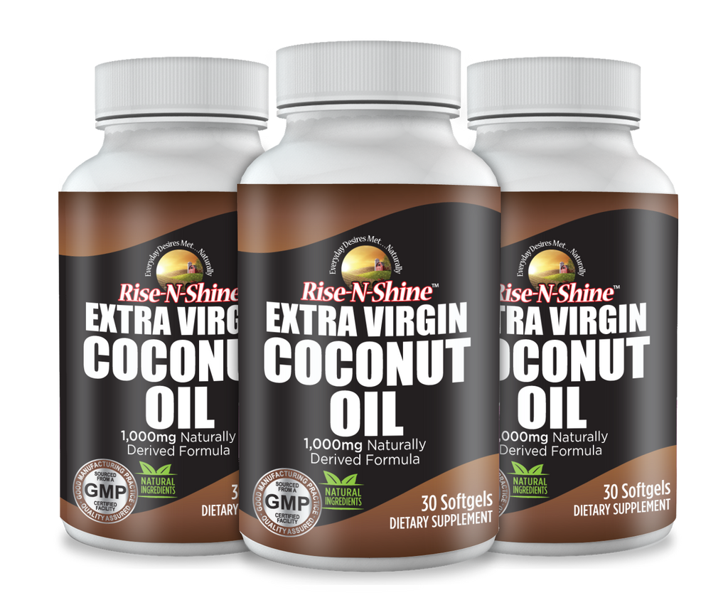 Organic Coconut Oil Supplement- Extra Virgin 1000 mg