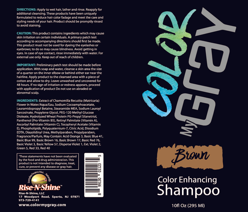 Color My Gray Color Enhancing Shampoo for Brown Hair