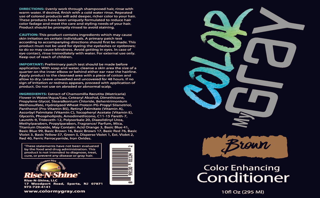 Color My Gray Brown Color Depositing Conditioner