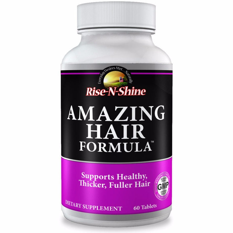 Amazing Hair Formula Supports Healthy Hair, Lashes, Skin and Nail Growth.