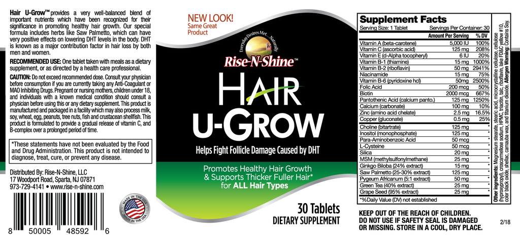 Hair U-Grow 30 Day Starter Set