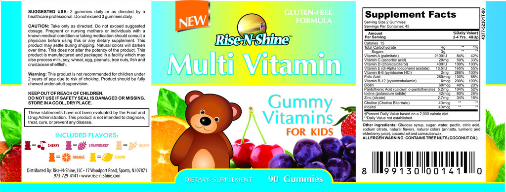 Kids Gummy Bear Multi Vitamin